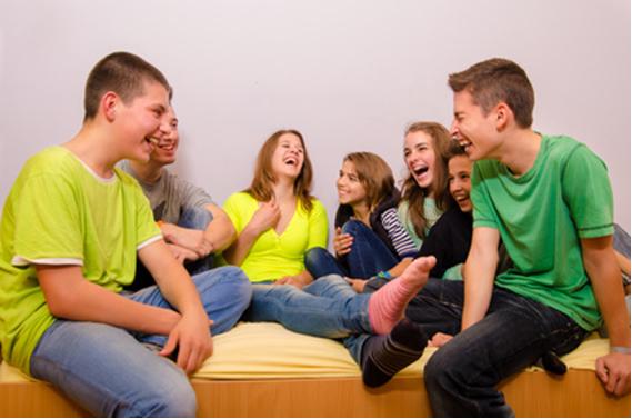 Ein Rückzugsort zum reden und Lachen Spaß mit Freunden hat nun oberste Priorität