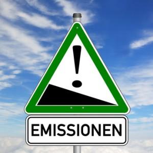 Emissionen Schild  #140224-02